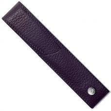 Темно-синий кожаный чехол для ручки Caran d'Ache Leman