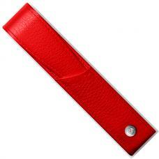 Красный кожаный чехол для ручки Caran d'Ache Leman