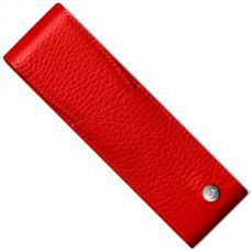 Красный кожаный чехол для двух ручек Caran d'Ache Leman
