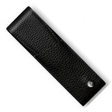Черный кожаный чехол для двух ручек Caran d'Ache Leman