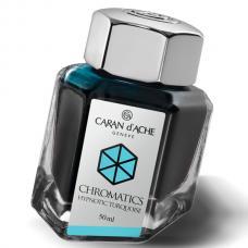 Бирюзовые чернила во флаконе Caran d'Ache Chromatics Hypnotic Turquoise 50мл
