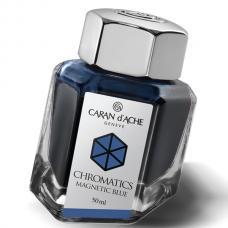 Синие чернила во флаконе Caran d'Ache Chromatics Magnetic Blue 50мл