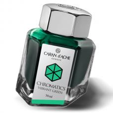 Ярко-зеленые чернила во флаконе Caran d'Ache Chromatics Vibrant Green 50мл