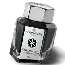 Черные чернила во флаконе Caran d'Ache Chromatics Cosmic Black 50мл