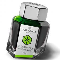 Зеленые чернила во флаконе Caran d'Ache Chromatics Delicate Green 50мл