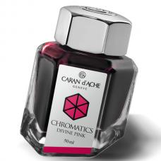 Розовые чернила во флаконе Caran d'Ache Chromatics Divine Pink 50мл