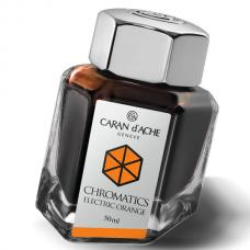Оранжевые чернила во флаконе Caran d'Ache Chromatics Electric Orange 50мл