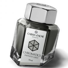 Серые чернила во флаконе  Caran d'Ache Chromatics Infinite Grey 50мл