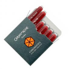 Оранжевые картриджи Caran d'Ache Chromatics Electric Orange