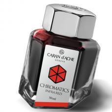 Красные чернила во флаконе Caran d'Ache Chromatics Infrared 50мл