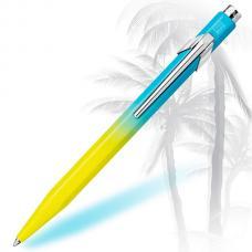 Шариковая ручка Caran d'Ache (Карандаш) 849 Tropical Blue/Yellow
