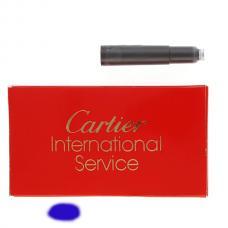 Синие картриджи с чернилами Cartier Ink Cartridge Blue
