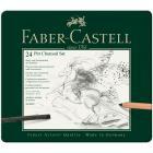 Набор из угля для рисования Faber Castell PITT MONOCHROME, 24 предмета