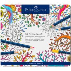 Акварельные карандаши Faber Castell ART GRIP AQUARELLE, набор 24 цвета