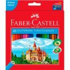 Цветные карандаши Faber Castell ECO ЗАМОК с точилкой, набор 48 цветов
