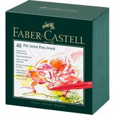 Капиллярные ручки Faber Castell PITT ARTIST PEN, набор 48 цветов