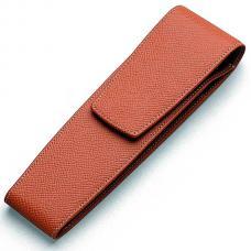 Кожаный чехол для двух ручек Graf von Faber-Castell коричневый