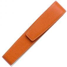 Кожаный чехол для одной ручки Graf von Faber-Castell коричневый