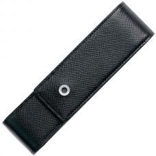 Кожаный чехол для двух ручек Graf von Faber-Castell Saffiano черный