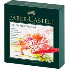 Капиллярные ручки Faber Castell PITT ARTIST PEN, набор 24 цвета