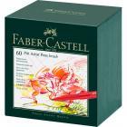 Капиллярные ручки Faber Castell PITT ARTIST PEN, набор 60 цветов