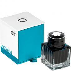 Синие чернила во флаконе Montblanc Ink Bottle 30 ml Maya Blue