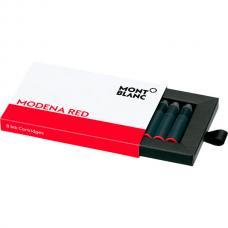 Красные картриджи с чернилами Montblanc Modena Red 8 штук