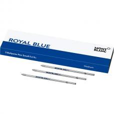 Синий шариковый мини стержень Montblanc Ballpoint Pen Refill Royal Blue M