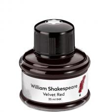 Красные чернила во флаконе Montblanc William Shakespeare Velvet Red, 35 Мл