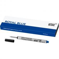 113778 Синий стержень Montblanc Refill Rollerball Capless System Royal Blue M