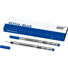 105163 Синий стержень Montblanc Rollerball Refill Royal Blue F