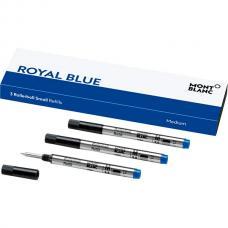 107324 Синий короткий стержень Montblanc Small Rollerball Refill Royal Blue M