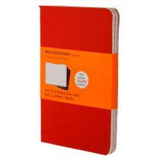 Блокнот Moleskine CAHIER JOURNAL Large 130 х 210 мм обложка картон 80 стр. линейка клюквенный (3шт)