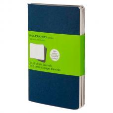 Блокнот Moleskine CAHIER JOURNAL Large 130 х 210 мм обложка картон 80 стр. нелинованный синий индиго (3шт)