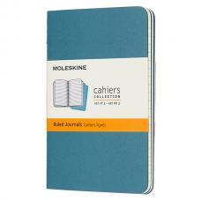 Блокнот Moleskine CAHIER JOURNAL Pocket 90 x 140 мм обложка картон 64 стр. линейка голубой (3шт)