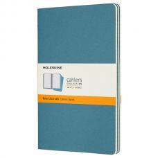 Блокнот Moleskine CAHIER JOURNAL Large 130 х 210 мм обложка картон 80 стр. линейка голубой (3шт)