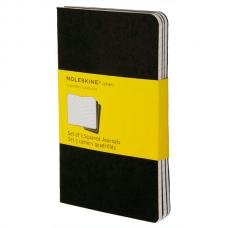 Блокнот Moleskine CAHIER JOURNAL Pocket 90 x 140 мм обложка картон 64 стр. клетка черный (3шт)