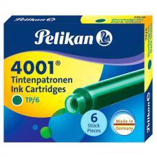 Зеленый картридж с чернилами Pelikan INK 4001 TP/6 Dark-Green 6 шт
