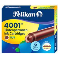 Коричневый картридж с чернилами Pelikan INK 4001 TP/6 Brilliant Brown 6 шт
