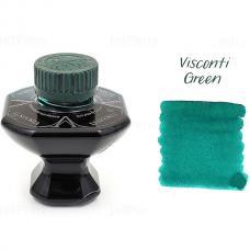 Зеленые чернила во флаконе Visconti Green ink 40мл