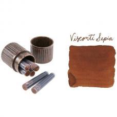Коричневые картриджи с чернилами Visconti Sepia ink cartridges 7шт
