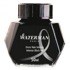 Черные чернила во флаконе Waterman Intense Black 50мл
